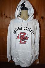 MV Sport Large Retro Hood Heather Sweatshirt Boston College Logo NWT