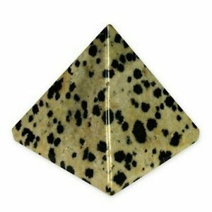 "Dalmation Jasper Pyramid Approx. 1.25 - 1.5"" Approx. Earth Elements Reiki"