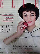 ELLE N° 0576 LE BLANC PASTEL BRODERIES LES AMERICAINS EN UN CLIN D'OEIL (1) 1957