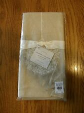 Set 2:Pottery Barn Snowflake Ornament Guest Hand Towels-Christmas Bathroom Decor