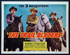 THE TRAIL BLAZERS BOB LIVINGSTON 3 MESQUITEERS WESTERN 1940 TITLE CARD