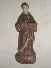 ANCIENNE STATUE RELIGIEUSE BOIS SCULPTE/SAINT FRANCOIS/H.17 cm/XIXème OU AVANT