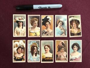 10 AMERICAN TOBACCO CARD ACTRESS ACTRESSES