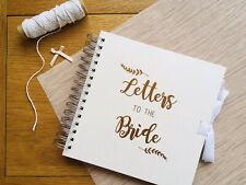 Handmade Letters To The Bride Wedding Book/Gift Mink & Copper