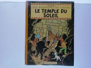 BD RARE Tintin Le Temple Du Soleil EO 1949 B3 BE+++ 2 Symboles Incas