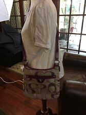 New Coach Signature Swing Pack Hand Bag17479 Berry Khaki Optic Cross body Purse