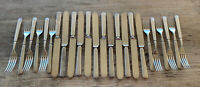 24 Pieces Antique Wm William A Rogers 12 DWT Silver Plate Knives Dinner Forks