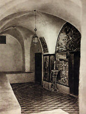 1925 MAR SABA CHRYSORRHOA'S CHAPEL Photogravure Architecture Art Print