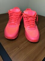 NIKE AIR MAX 90 HYPERFUSE PREMIUM ID SOLAR RED/BLUE SIZE MEN'S 11.5 653603-993