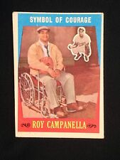 1959 Topps #550 Roy Campanella - Symbol of Courage