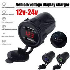 12V/24 4.2A Car Cigarette Lighter Socket Dual USB Charger Power Adapter Outlet
