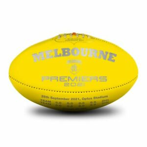 2021 Melbourne Premiers Sherrin KB Yellow Ball (Boxed) *PRE ORDER*