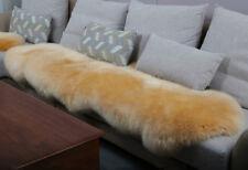 180x65cm Double Pelt Sheepskin Rug Light Tan Real Australian 6' x 2' Fur Carpet