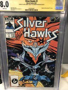 Silverhawks #1 (Star) 1st Silverhawks, CGC Signed X2 Larry Kenney Bluegrass