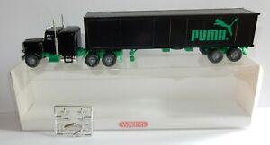 WIKING HO 1/87 CAMION PETERBILT SEMI-REMORQUE PUMA US TRUCK KOFFER #5270230 box