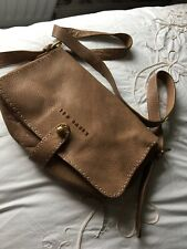Ted Baker Very Soft Leather Shoulder Bag With Feature Stitching