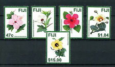 Fiji 2016 MNH Hibiscus Flowers 5v Set Flora Nature Stamps