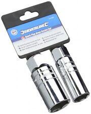 Silverline Spark Plug Deep Socket Set 2 Piece 3/8″ for 16mm & 21mm Plugs