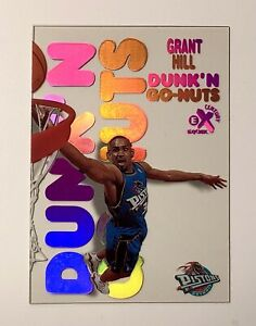 1998-99 Skybox E-X Century Dunk 'N Go-Nuts GRANT HILL Acetate Refractor RARE
