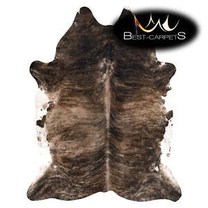AMAZING artifical Cowhide Rug Animal Cow printed dark brown Large size Carpet