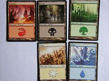 5 TERRAINS LAND Magic MTG PROMO ARENA 2006  MINT