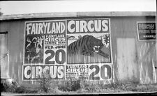 Original  Circus Negative.. ' Fairyland '.....Barn Poster