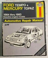 Ford Tempo & Mercury Topaz 1984 thru 1993 Gas Engine Automotive Repair Manual