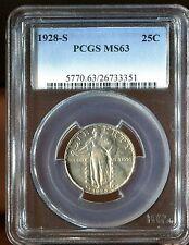 1928-S Standing Liberty Quarter 25C PCGS MS63