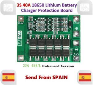 Enhanced Version 3S 40A 11.1V 12.6V 18650 Lithium Battery Protection Board BMS