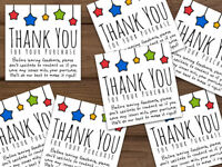 Thank you for your purchase customized labels stickers or cards ebay star colors