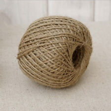 30M DIY Jute String Craft Shabby Style Rustic Shank Natural Brown Jute Twine