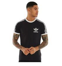Adidas Originales Para hombres Mangas Cortas Camiseta Club Trébol Tee NEGRO L-Grande
