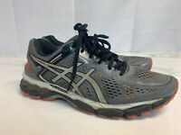 ASICS Kayano 22 Mens Size 9 Silver Orange Athletic Trainers Sneaker Shoes