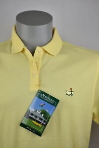 New Masters Collection Ladies Golf Polo Lemon NWT Size Large Yellow