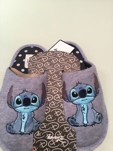 Ladies DISNEY Primark blue Stitch slippers 3 4 5 6 7 8