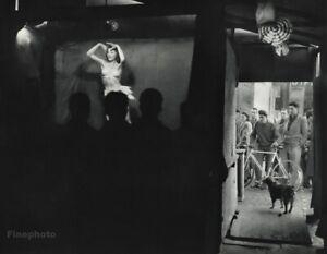 1955 Vintage ROBERT DOISNEAU Men Watching Female Dancer On Stage Photo Art 11x14