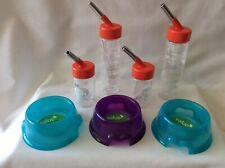 Hamster Feeding Set - 3 x Feeding Bowls, 2 x Drinking Bottles, 2 x Mini Bottles