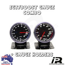PYRO EGT EXHAUST GAS TEMPERATURE GAUGE + TURBO BOOST PSI KIT LANDCRUSIER 4X4 4WD