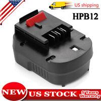 2.0AH HPB12 Battery for Black & Decker A1712 HPB12 Firestorm FS120B FSB12 Tools