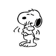 "Snoopy #12 Decal Cartoon Vinyl Sticker Macbook Laptop Car Window 4"" BLACK"