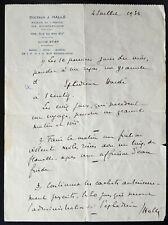 Peintre & Médecin Jean HALLE autographe