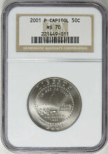 2001-P U. S. Capitol Half Dollar Commemorative - NGC MS-70 - Mint State 70