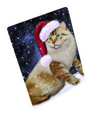 Christmas Holiday American Bobtail Dog Tempered Cutting Board Large Db617