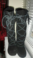 Penny Loves Kenny Womens Black Boho Real Suede Boots - UK 6, US 8