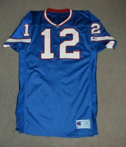 Vtg Jim Kelly Buffalo Bills Champion Game Cut AUTHENTIC Football Jersey Sz 46