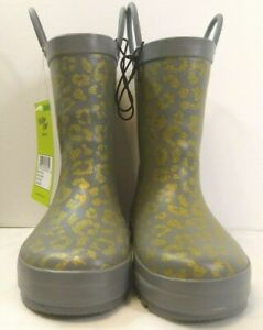 New Western Chief Kids Faux Fur Lined Rain Boots Color Princess Kitten Size 9/10