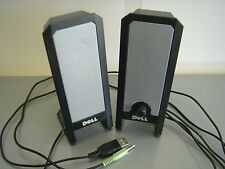 DELL A225 USB POWERED Computer Laptop Speaker Set Pair (2 Speakers) w/Cables