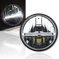 """5 3/4"""" LED Motorcycle Glass Headlight w/ White DRL LED Center Position Light Bar"""