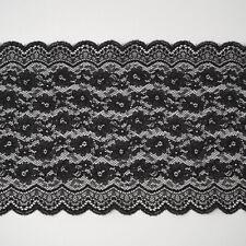 30 mm elastisch Wäschespitze Schwarz Gothic ❤️ Spitzenborte ❤️ 5m SPITZE