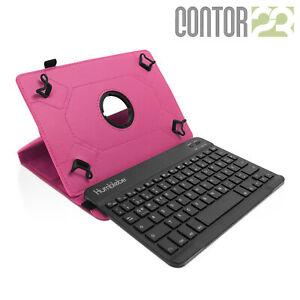 """Schutzhülle + Bluetooth-Tastatur in PINK für 9.7"""" Samsung Galaxy Tab S2"""